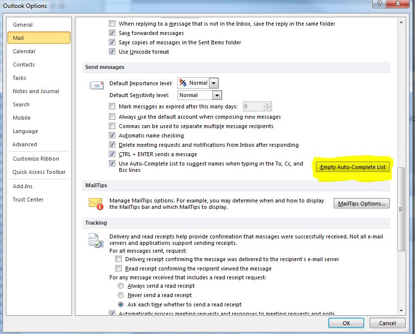 Microsoft Outlook Skype Error